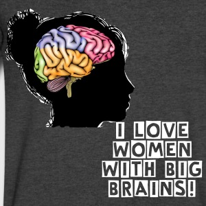 I Love Women with Big Brains - Men's V-Neck T-Shirt by Canvas