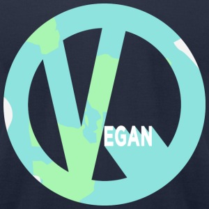 A Peaceful Vegan Earth - Men's T-Shirt by American Apparel