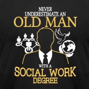 Old Man Social Work - Men's T-Shirt by American Apparel