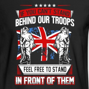 Stand Behind Our Troops - Men's Long Sleeve T-Shirt