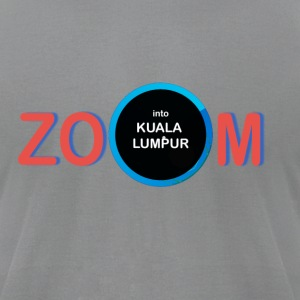 zoom into kuala lumpur - Men's T-Shirt by American Apparel