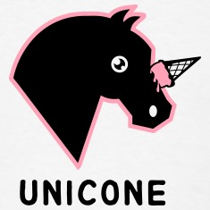 Unicone - Pony With Ice Cream Cone T-Shirts
