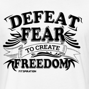 Men's T-shirt - Defeat Fear - Fitted Cotton/Poly T-Shirt by Next Level