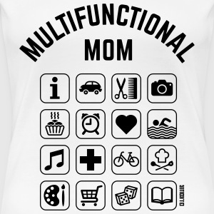 Multifunctional Mom (16 Icons) Women's T-Shirts - Women's Premium T-Shirt
