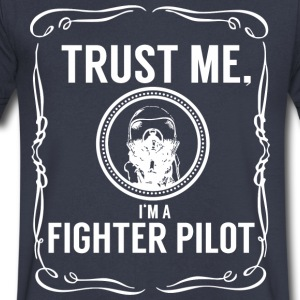 Trust me - Fighter pilot T-Shirts - Men's V-Neck T-Shirt by Canvas