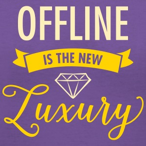 Offline Is The New Luxury Women's T-Shirts - Women's V-Neck T-Shirt