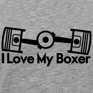 I Love My Boxer T-Shirts - Men's Premium T-Shirt