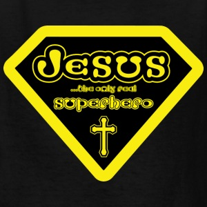 Jesus - The Only Real Superhero Kids' Shirts - Kids' T-Shirt