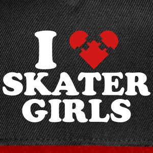 I Heart Skater Girls Sportswear - Snap-back Baseball Cap