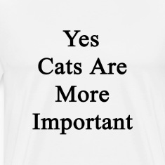 yes_cats_are_more_important T-Shirts