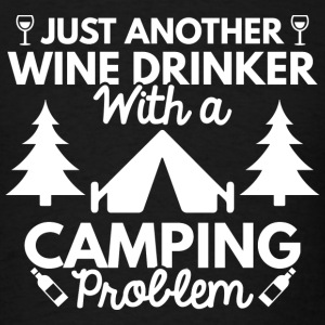 Wine Drinker Camping - Men's T-Shirt