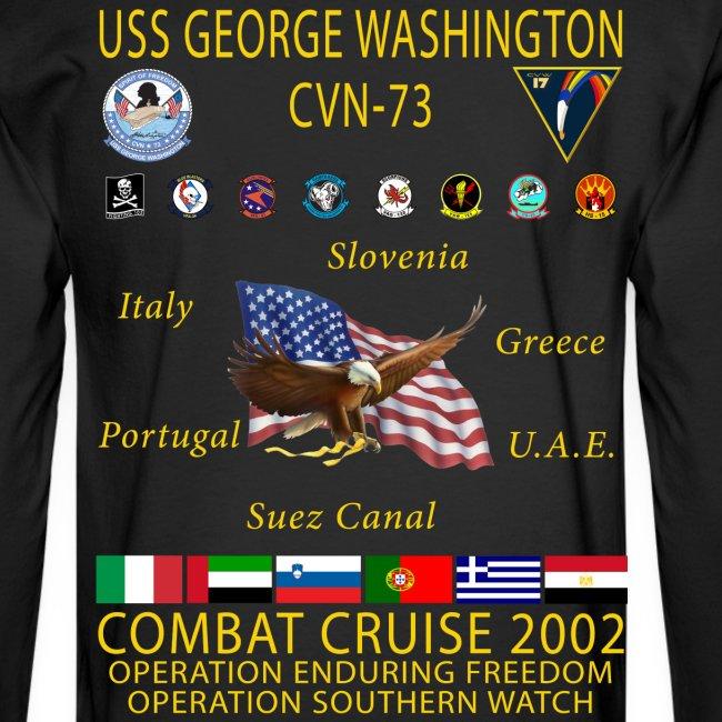 USS GEORGE WASHINGTON 2002 CRUISE SHIRT - LONG SLEEVE
