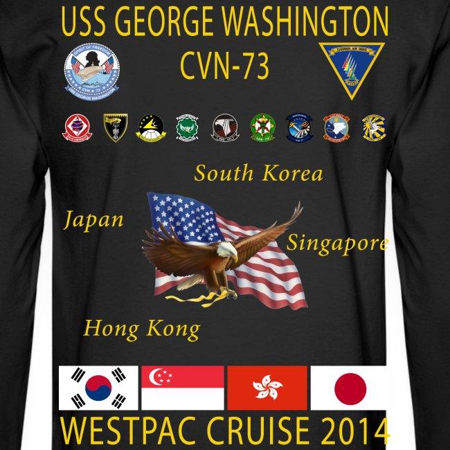 USS GEORGE WASHINGTON 2014 CRUISE SHIRT - LONG SLEEVE