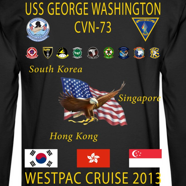 USS GEORGE WASHINGTON 2013 CRUISE SHIRT - LONG SLEEVE