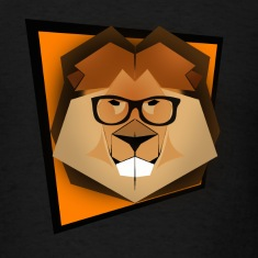 Lion Hipster Head