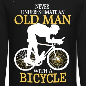 Bicycle Old Man - Crewneck Sweatshirt
