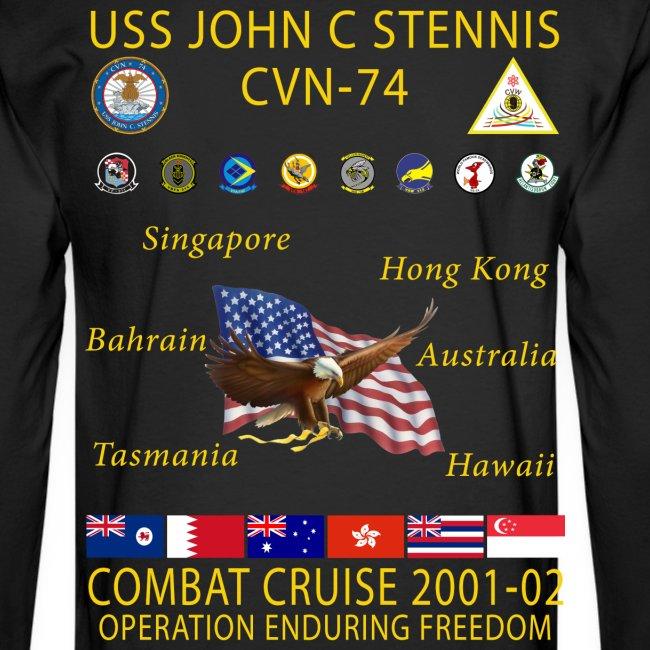 USS JOHN C STENNIS 2001-02 CRUISE SHIRT - LONG SLEEVE
