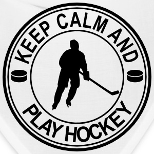 Keep Calm And Play Hockey Seal Caps - Bandana