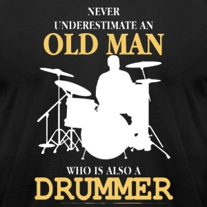 Old Man Drummer - Men's T-Shirt by American Apparel