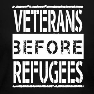 Veterans Before Refugees - Women's Long Sleeve Jersey T-Shirt