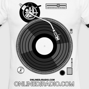 OnlineDJRadio Turntable - Men's Ringer T-Shirt