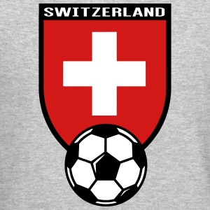 European Football Championship 2016 Switzerland Long Sleeve Shirts - Crewneck Sweatshirt