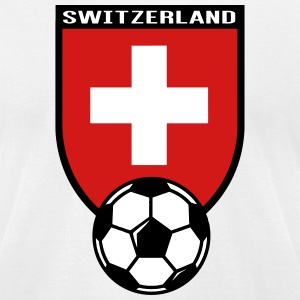 European Football Championship 2016 Switzerland T-Shirts - Men's T-Shirt by American Apparel
