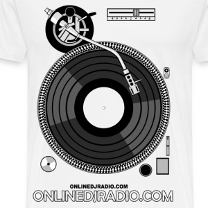 OnlineDJRadio turntable - Men's Premium T-Shirt