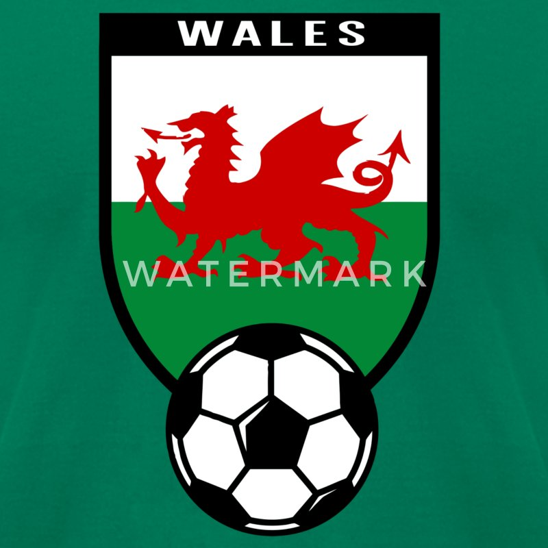 European Football Championship 2016 Wales T-Shirts - Men's T-Shirt by American Apparel