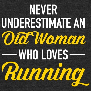 Old Woman - Running T-Shirts - Unisex Tri-Blend T-Shirt by American Apparel