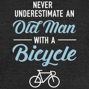 Old Man - Bicycle T-Shirts - Unisex Tri-Blend T-Shirt by American Apparel