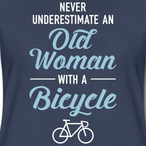 Never Underestimate An Old Woman With A Bicycle Women's T-Shirts - Women's Premium T-Shirt