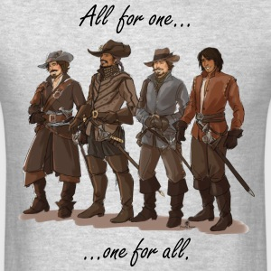 BBC Three Musketeers Version 2 - Men's T-Shirt