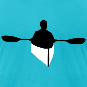 kayaking, kayaker T-Shirts - Men's T-Shirt by American Apparel