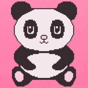 Funny cross-stitch panda Bags & backpacks - Tote Bag
