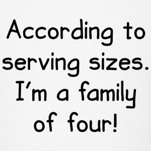Serving Sizes - Men's T-Shirt