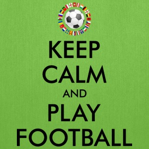 KEEP CALM and PLAY FOOTBALL 2016 Bags & backpacks - Tote Bag