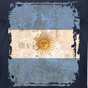 Argentina Flag T-shirt - Men's T-Shirt by American Apparel