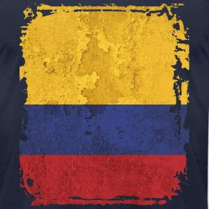 Colombia Flag T-shirt - Men's T-Shirt by American Apparel