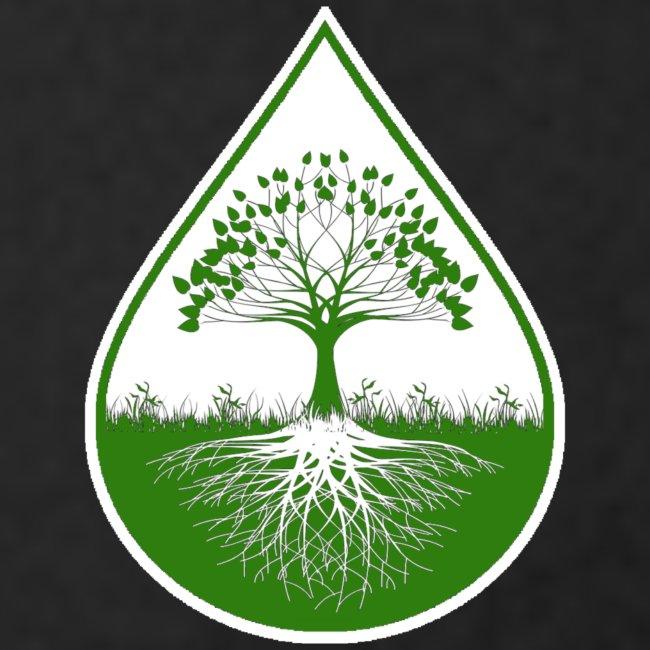 Green small logo on black elite tank