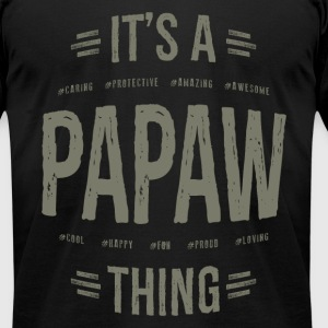 Papaw T-shirt Gift! - Men's T-Shirt by American Apparel