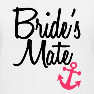 Bride's Mate bridesmaid matching tank top shirts - Women's V-Neck T-Shirt