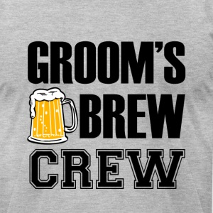 Groom's Brew Crew funny groomsmen bachelor party  - Men's T-Shirt by American Apparel