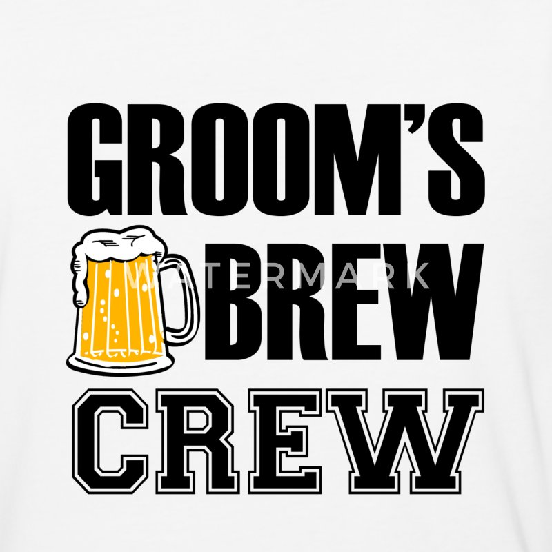 Groom's Brew Crew funny groomsmen bachelor party G - Baseball T-Shirt