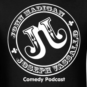The J & J Podcast - White Logo - Men's T-Shirt