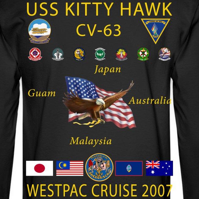 USS KITTY HAWK CV-63 2007 CRUISE SHIRT - LONG SLEEVE