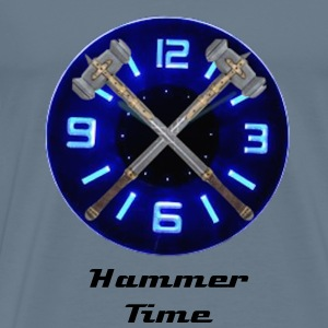 Hammer Time T-Shirt- Steel Blue - Men's Premium T-Shirt