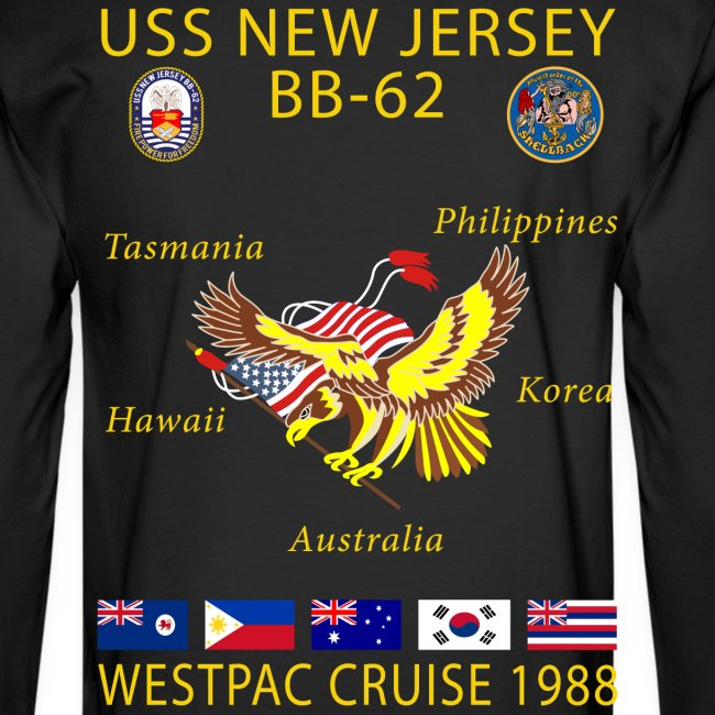 USS NEW JERSEY 1988 CRUISE SHIRT - LONG SLEEVE