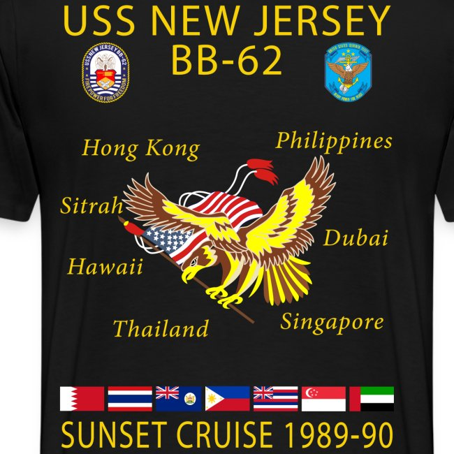 USS NEW JERSEY 1989-90 CRUISE SHIRT
