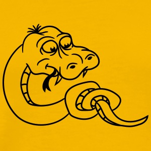 knot knotted snake funny comic cartoon T-Shirts - Men's Premium T-Shirt